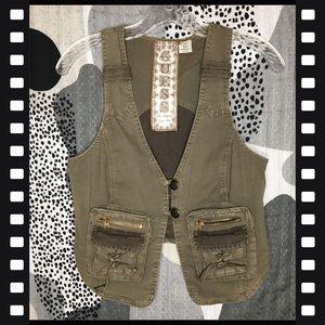 Guess Ladies Vintage Stretch Utility Vest